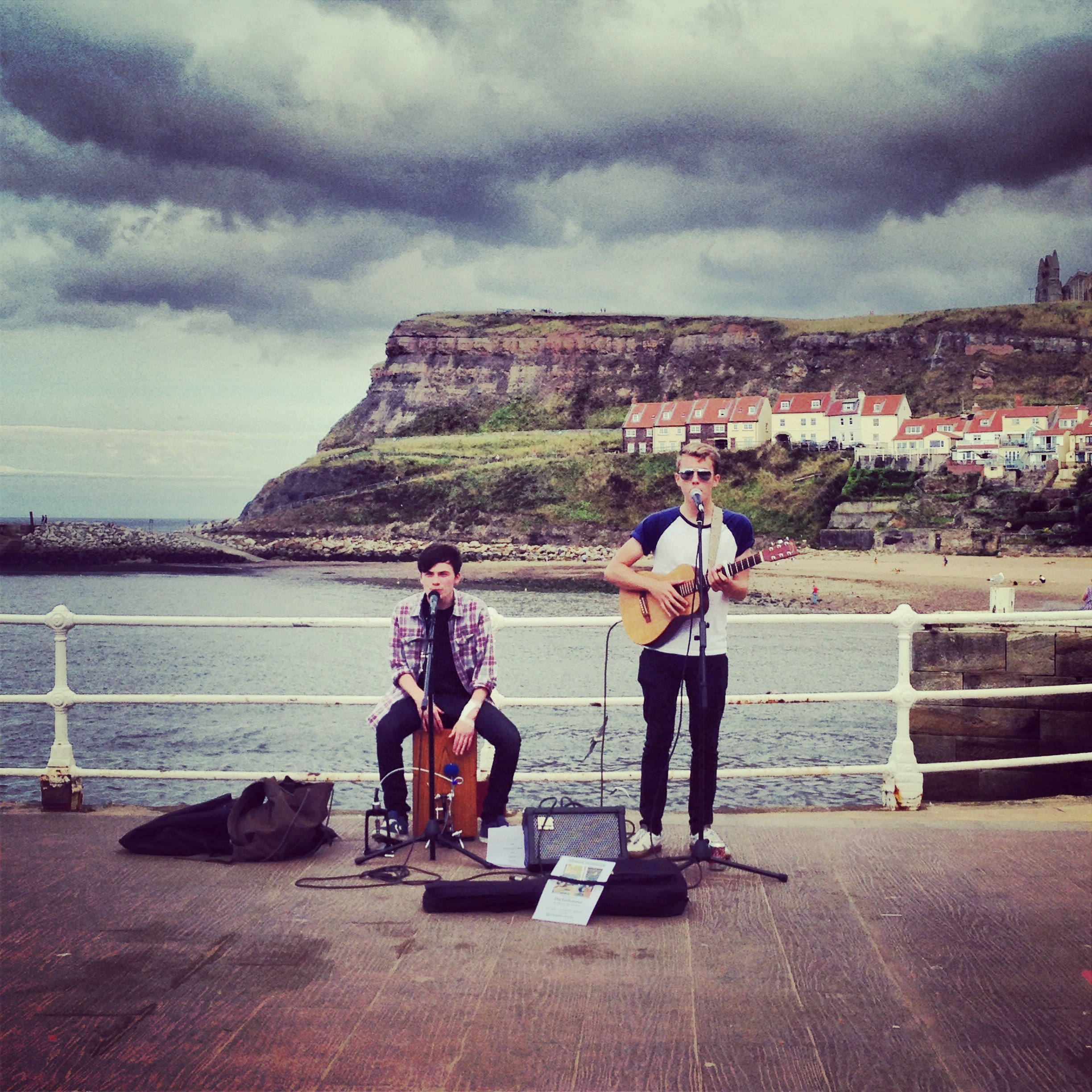 Absent Average busking in Whitby Pier